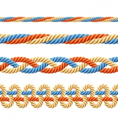 Seamless set of rope elements vector