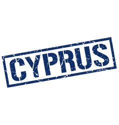 Cyprus blue square stamp vector