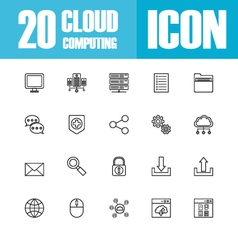258cloud outline icon vector