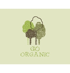 Organic eco green template vintage ecology poster vector