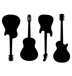 Guitars silhouettes vector