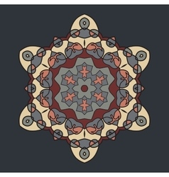 Brown retro ornate mandala background for greeting vector