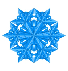 blue paper snowflake on a white background vector image