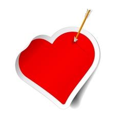 arrow and heart vector image