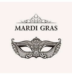 Beautiful mask of lace mardi gras vector