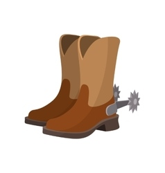 Cowboy boot cartoon icon vector