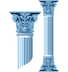 Ancient stone columns vector