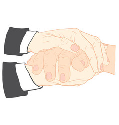 and holding hand together vector image vector image