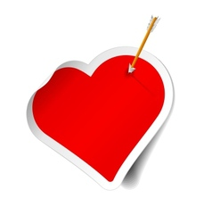 arrow and heart vector image vector image