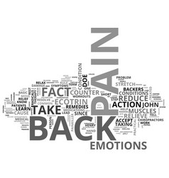 Back pain and backers text word cloud concept vector