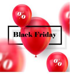 Black friday ballons vector
