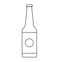 bottle icon outline style vector image
