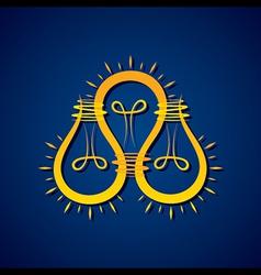Business idea concept with light bulbs vector image
