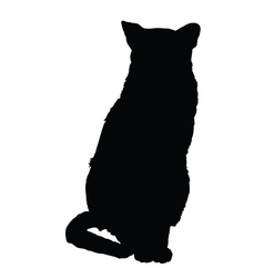 cat silhouette 3 vector image vector image