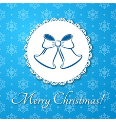 Christmas applique card background vector image