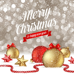 Christmas greetings vector image vector image
