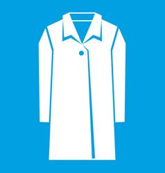 coat icon white vector image