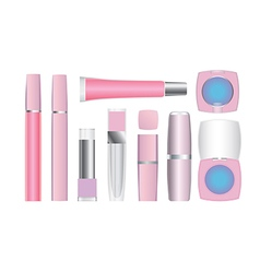 cosmetics set 2 vector image vector image