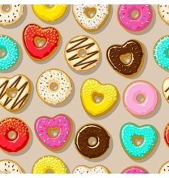 Different sweet donuts vector image