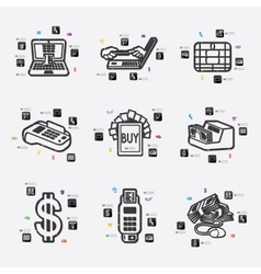 e-money infographic vector image