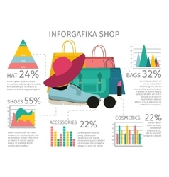 Fashion accessories infographic vector