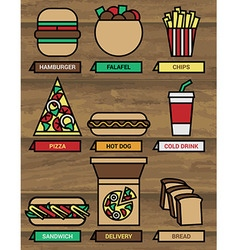 Fast food icons 380 vector