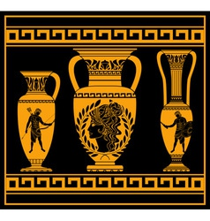 hellenic jugs vector image vector image