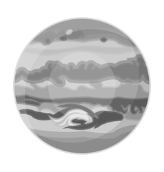 Jupiter icon in monochrome style isolated on white vector