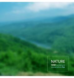 Landscape blurred photo background vector