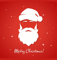 Merry christmas greeting card with santa claus vector