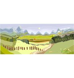 Mountain spring landscape vector