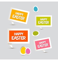 Paper Easter Eggs Labels Tags Set vector image vector image