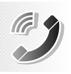 Phone sign new year blackish vector