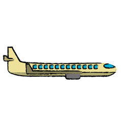 plane transport business travel vector image