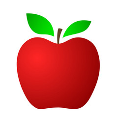 Red apple on a white background vector
