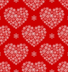 Red seamless pattern with hearts made of vector image