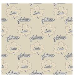 Seamless pattern of autumn sale vector image