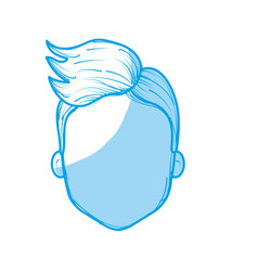 Silhouette nice man face with haistyle vector