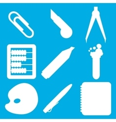 White school goods silhouettes Part 2 vector image