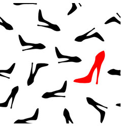 woman shoe pattern vector image vector image