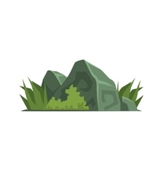 Rocks covered with vegetation jungle landscape vector