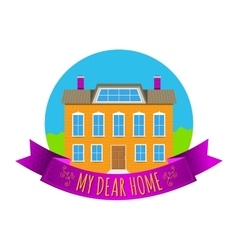 Real estate emblem vector