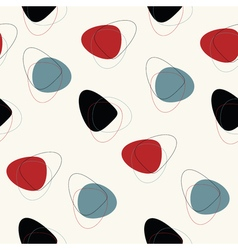 Abstract mid century pattern vector image