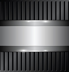 Shiny metallic on grille background vector