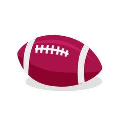 american football red soccer ball sport game vector image