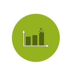 In flat design of column chart vector