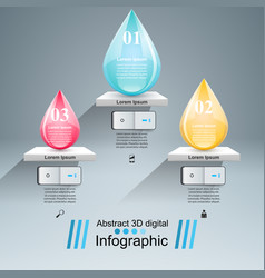 Drop icon business infographics vector