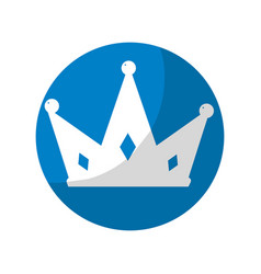 Sticker nice crown of king to glory and pawer vector