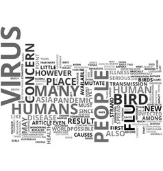 Why is bird flu of such concern text word cloud vector