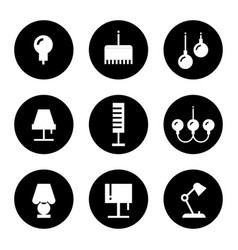 lighting flat icons - lamps sconce and floor vector image